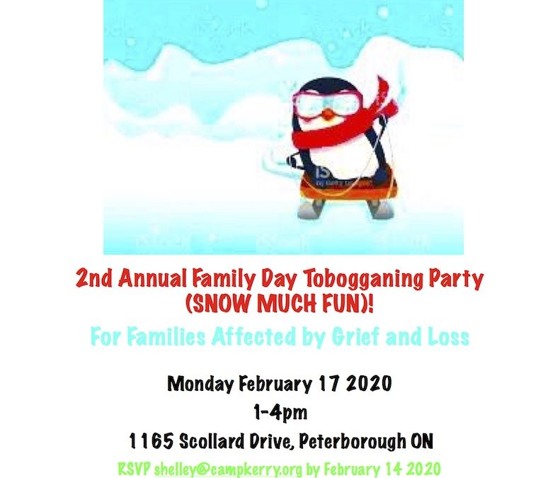 2ND Annual Family Day Tobogganing Party