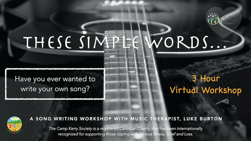 3 Hour Song Writing Workshop: These Simple Words